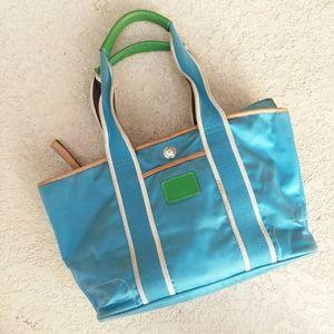 COACH Blue Satineen Tote Bag Handbag
